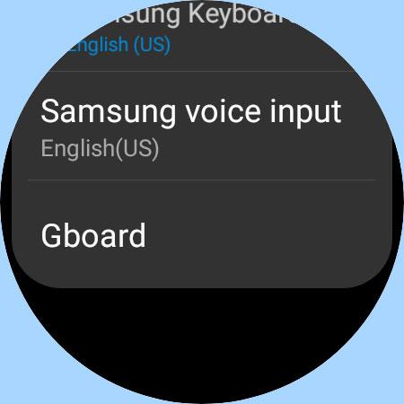 Gboard keyboard option in Samsung galaxy watch 4