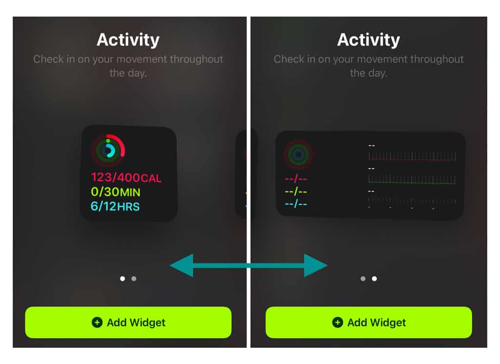 change the size of your iPhone's widgets