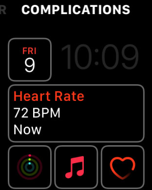 add or change an apple watch face complication