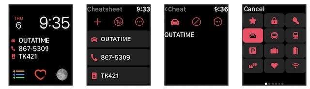 CheatSheet App for Apple Watch