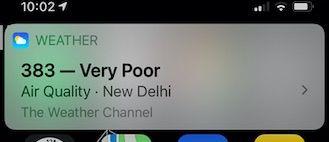 Check Air quality index using Siri