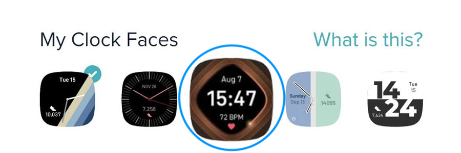 change your Fitbit's clock face inside the Fitbit app