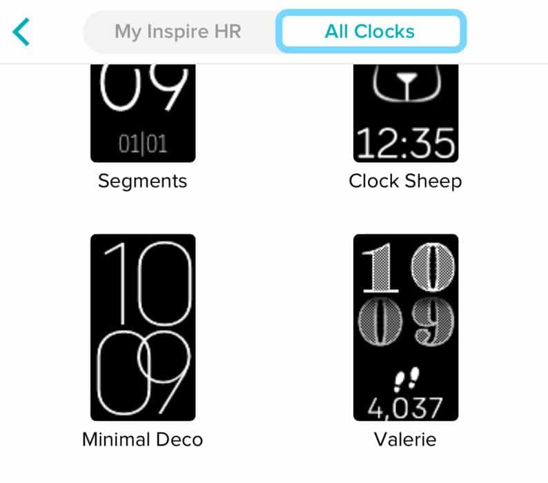 Fitbit tracker choose a new clock face inside the fitbit app