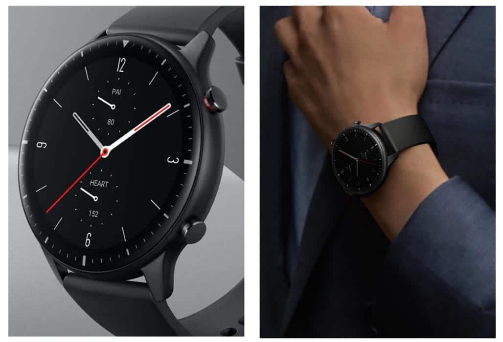 Beautiful classic watch design of Amazfit GTR 2