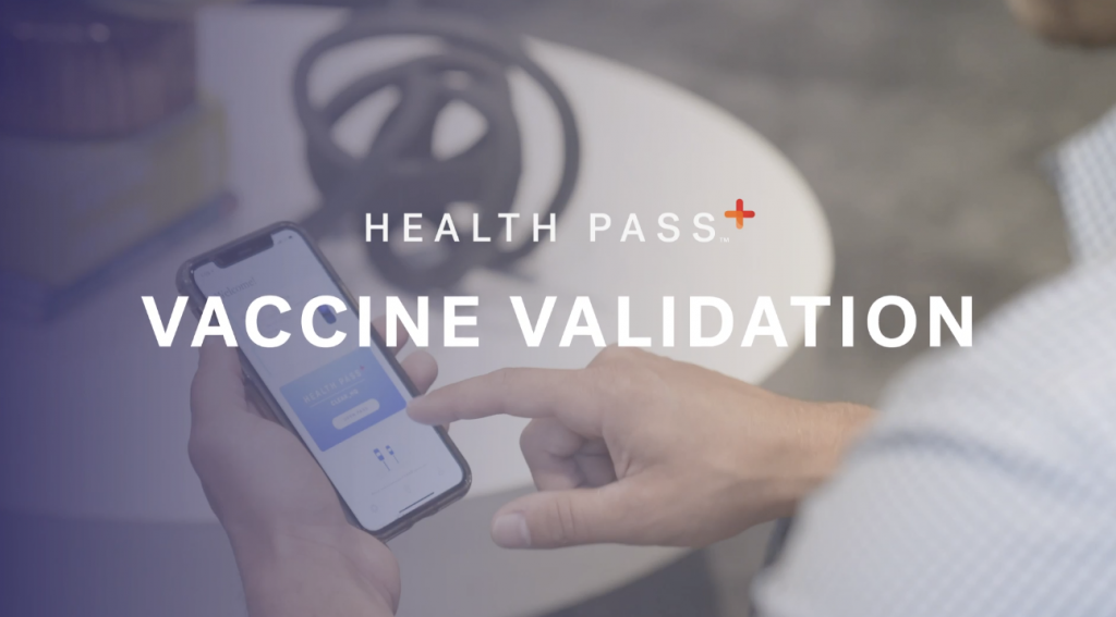 Vaccine validation with clear health pass