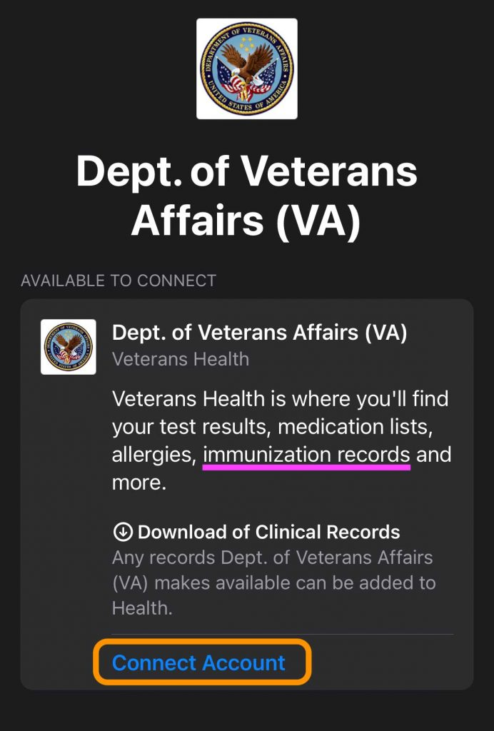 connect your healthcare provider health records into Apple Health app