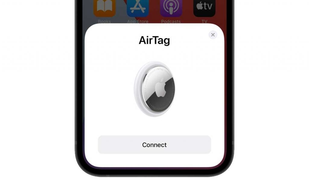 how to connect AirTag to Find My app