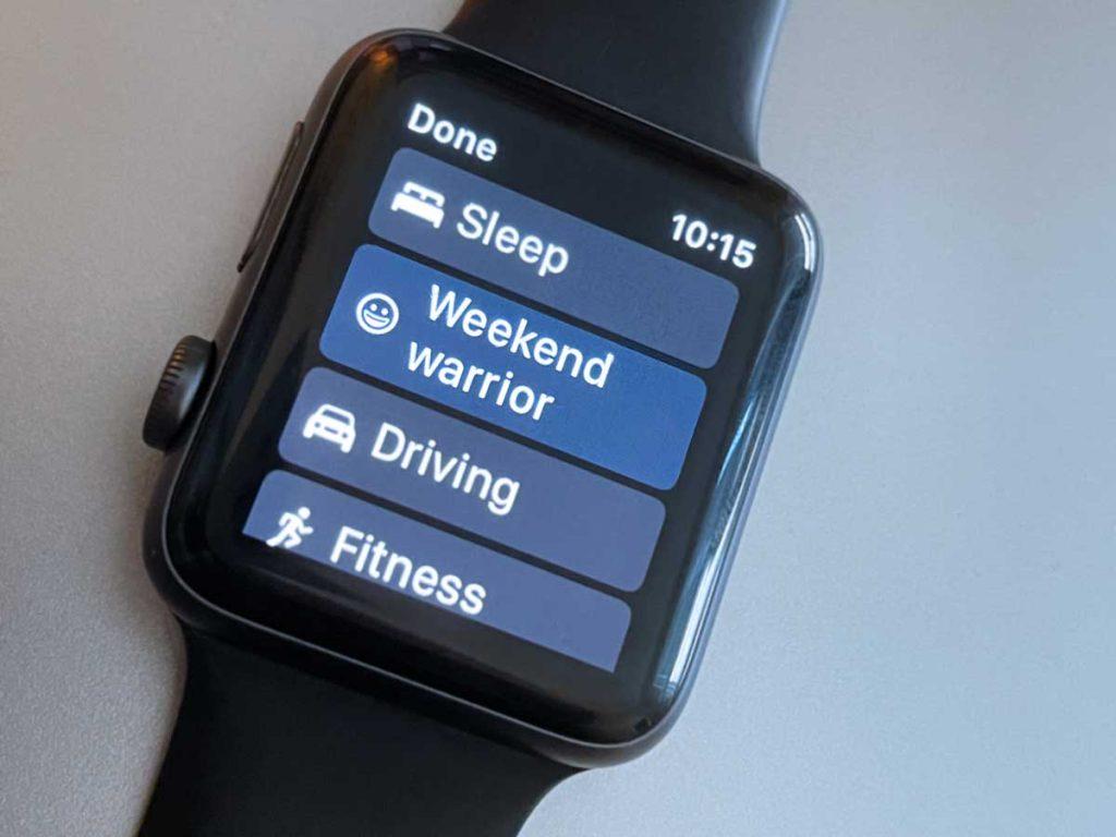 custom focus in do not disturb on Apple Watch
