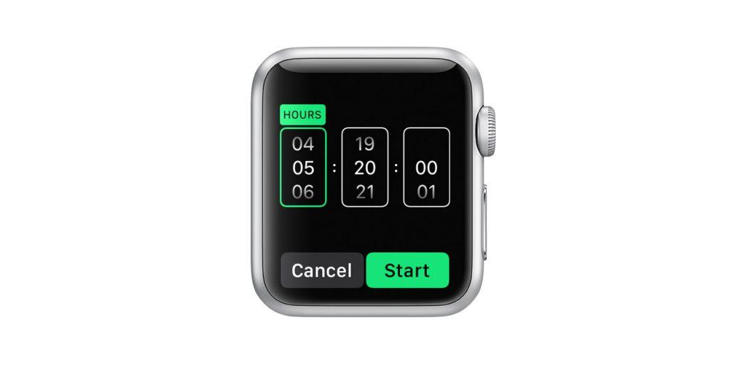 custom timer on apple watch