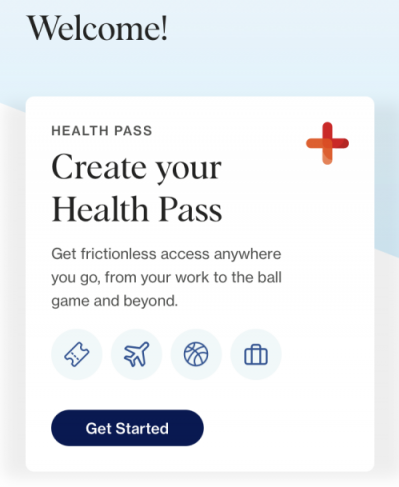 Clear Health Pass