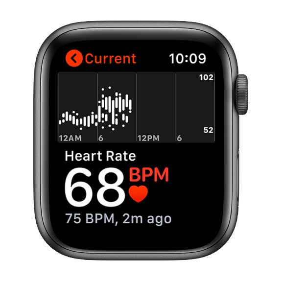 instant peek at your heart rate on Apple Watch