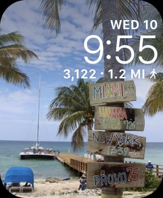Custom Apple Watch Face with step count