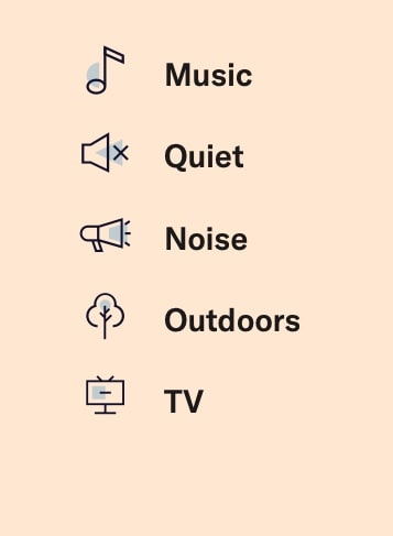 Whisper.ai Custom hearing modes