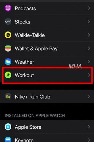 Customize Apple Watch workout metrics