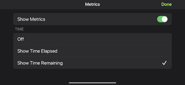 Customize fitness+ metrics