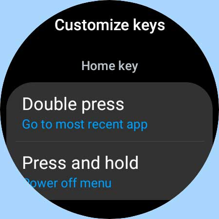 Galaxy watch 4 customize keys and buttons functions
