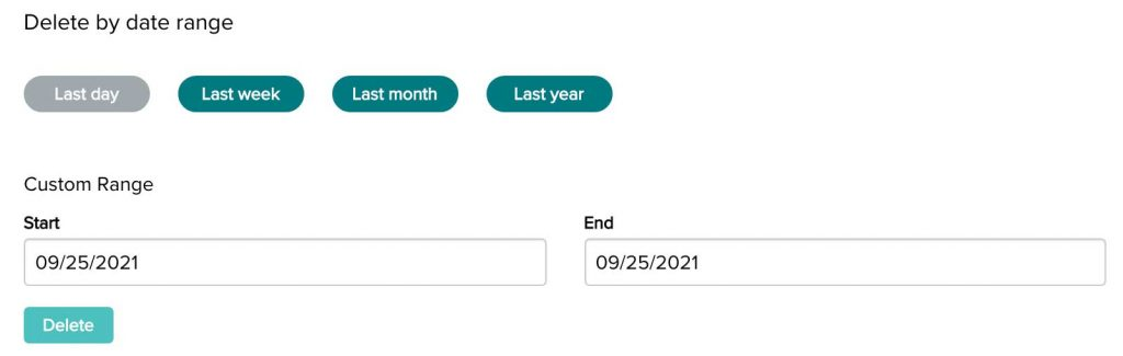 Remove data from your fitbit account