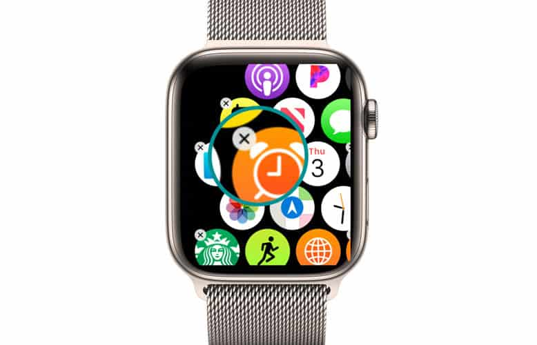 remove an app from the Apple Watch without the iPhone