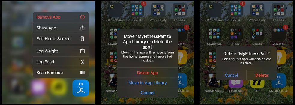 remove MyFitnessPal app from iOS and iPadOS