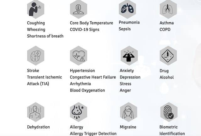 Smartglass detection of health conditions