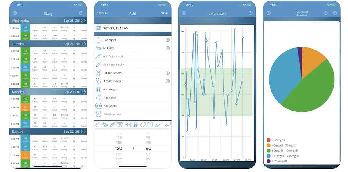 Diabetes Connect app for iPhone