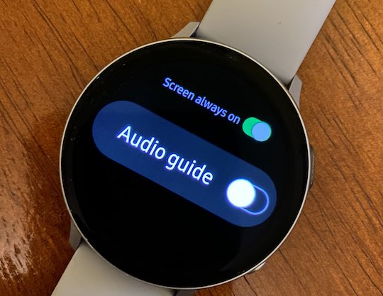 Disable Audio guide for exercise on Galaxy watch