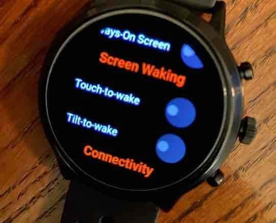 Disable Tilt to wake for better battery life