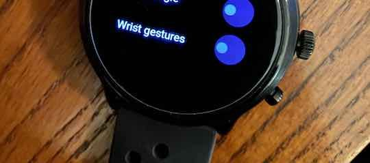 Disable Wrist Gestures on smartwatch