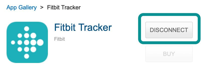 MyFitnessPal website disconnect Fitbit tracker from account