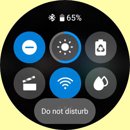 DND do not disturb on galaxy watch 4