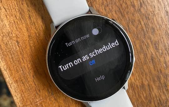 Do-not-disturb vs Goodnight mode on Galaxy watch