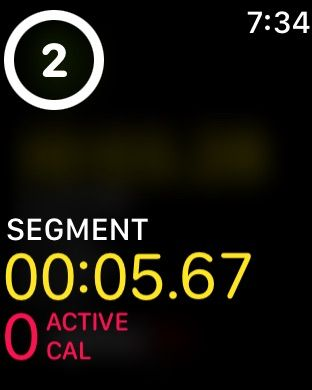 Double tap on Apple Watch to add new workout segments