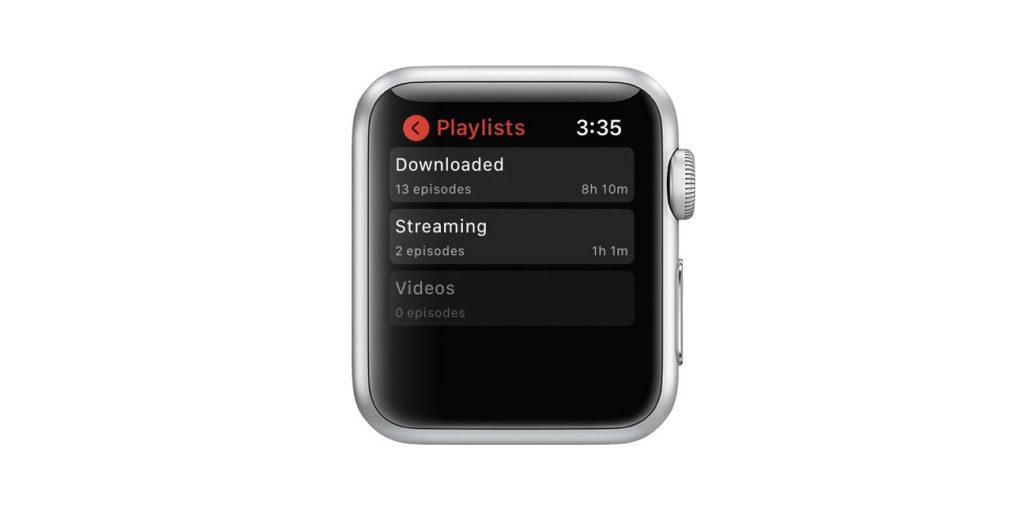 apple watch Downcast app