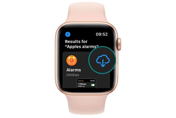 Install an app from apple watch app store