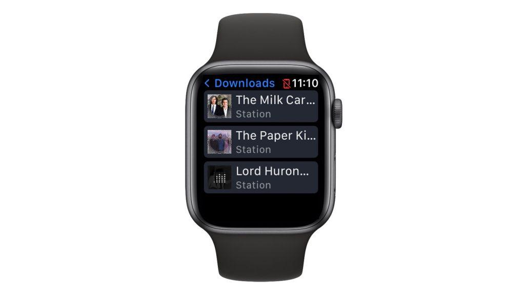 Apple watch Pandora offline music playing from Downloads folder