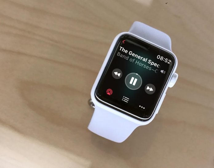 downloaded music on Apple Watch