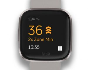 Fitbit active zone minutes earn 2X minutes with Fitbit Versa