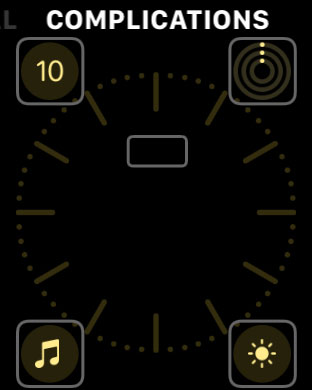 change an apple watch face complication directly on Apple Watch