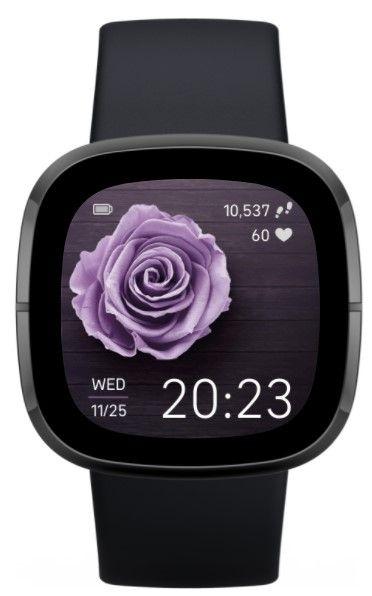 Elegant flower fitbit watch face
