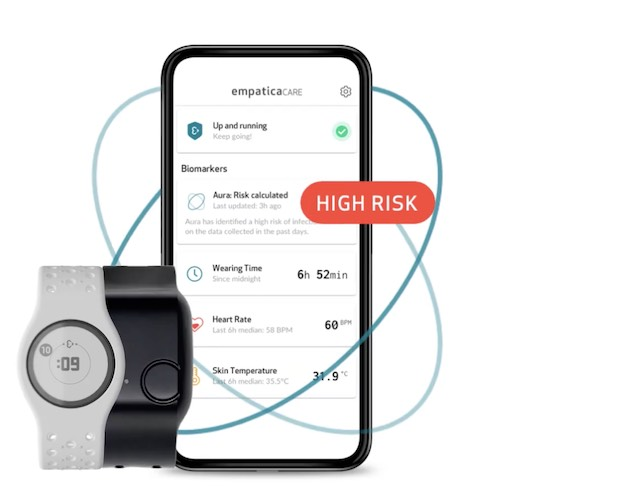 Empatica wearable for respiratory infection tracking