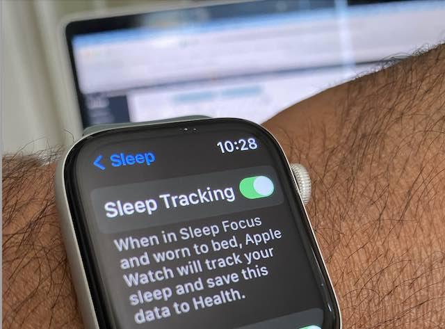Enable sleep tracking on Apple Watch to measure respiratory rate