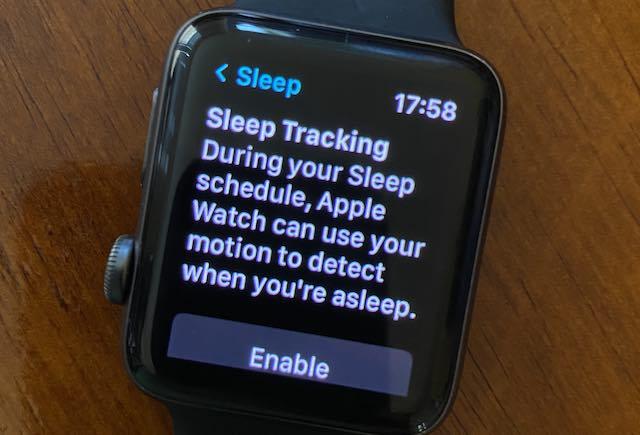 Enable Sleep tracking on Apple Watch