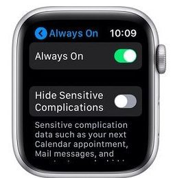 Enable or disable Always on Display on Apple Watch Series 6