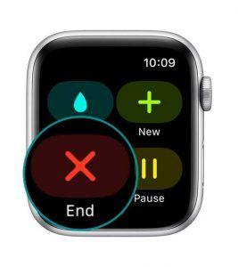 apple watch workout app end workout
