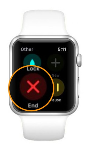 end other workout on apple watch