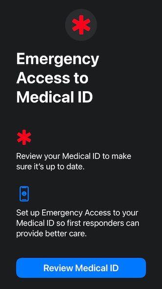 Enter emergency info for Apple Watch