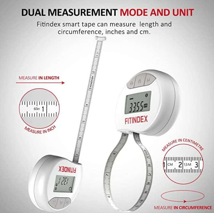 Measure your body with FITINDEX Smart Body Tape Measure