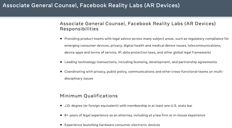 Facebook medical device experience