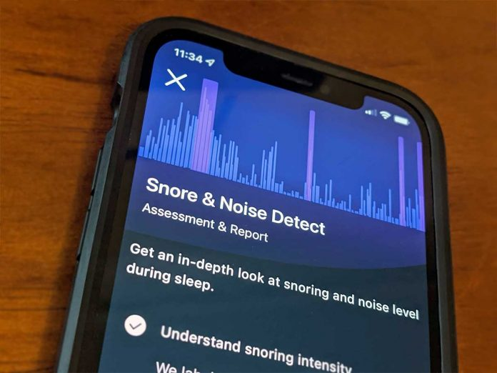 snore and noise detect on Fitbit