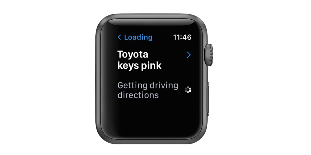 Get directions to missing item in Apple Watch Find Items app